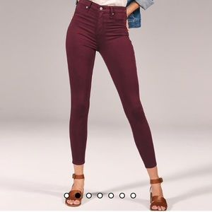 Abercrombie & Fitch Maroon Jeans